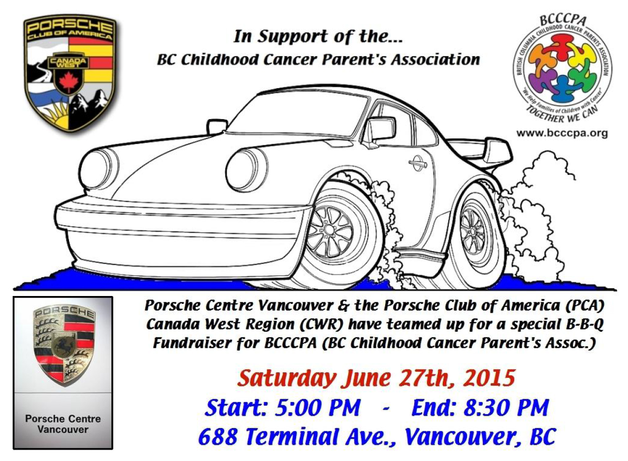 Porsche Centre Vancouver  PCA-CWR support BCCCPA via BBQ (June 2