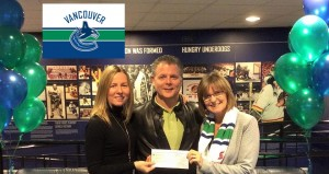 Vancouver Canucks Cheque for BCCCPA