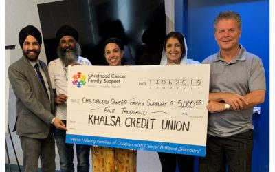 Khalsa Credit Union presents CCFSupport with a cheque